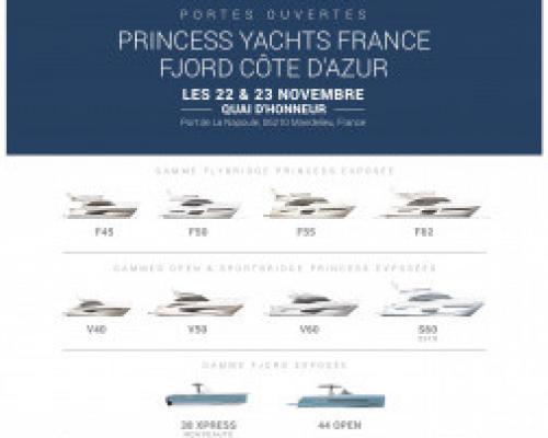 Portes Ouvertes PRINCESS Yachts France les 22 & 23 Novembre